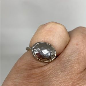 Jewelry - 😀 2/$15 Silver plated, hammered finish ring